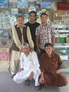 Staff of Madina: Rear: Mr Yaqoob, Raji, Irfan. Front: Habib, Ajaib