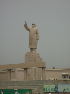 The statue of Mao