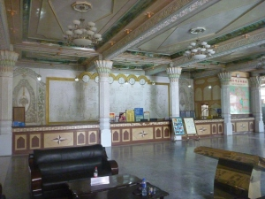 The recently renovated lobby of the historic Seman Hotel