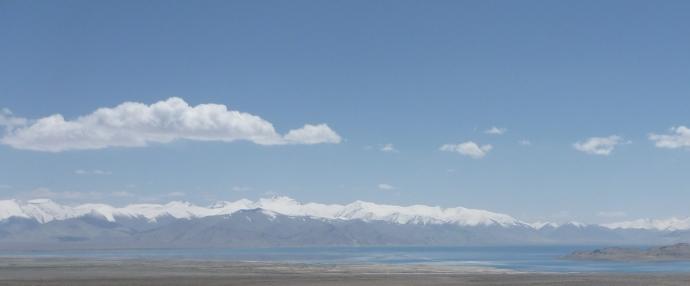 Looking over Kara Kul to the stunning peaks of the Tanymas Ranges of Badakhshan.