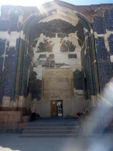 The Blue Mosque undergoing much-needed restoration.