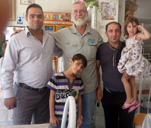A very friendly Iranian family invited me to join them for lunch.
