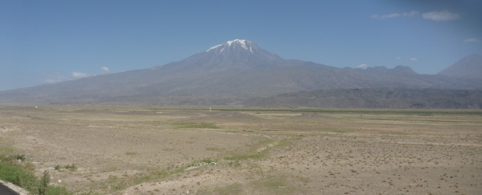 Mt Ararat - at over 500m it still had snow in the middle of summer.