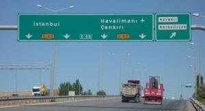 Turkey uses the FHWA typeface.